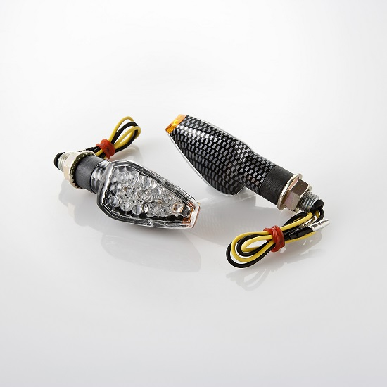 Arlows Universal LED Blinker Trapez carbon 65mm